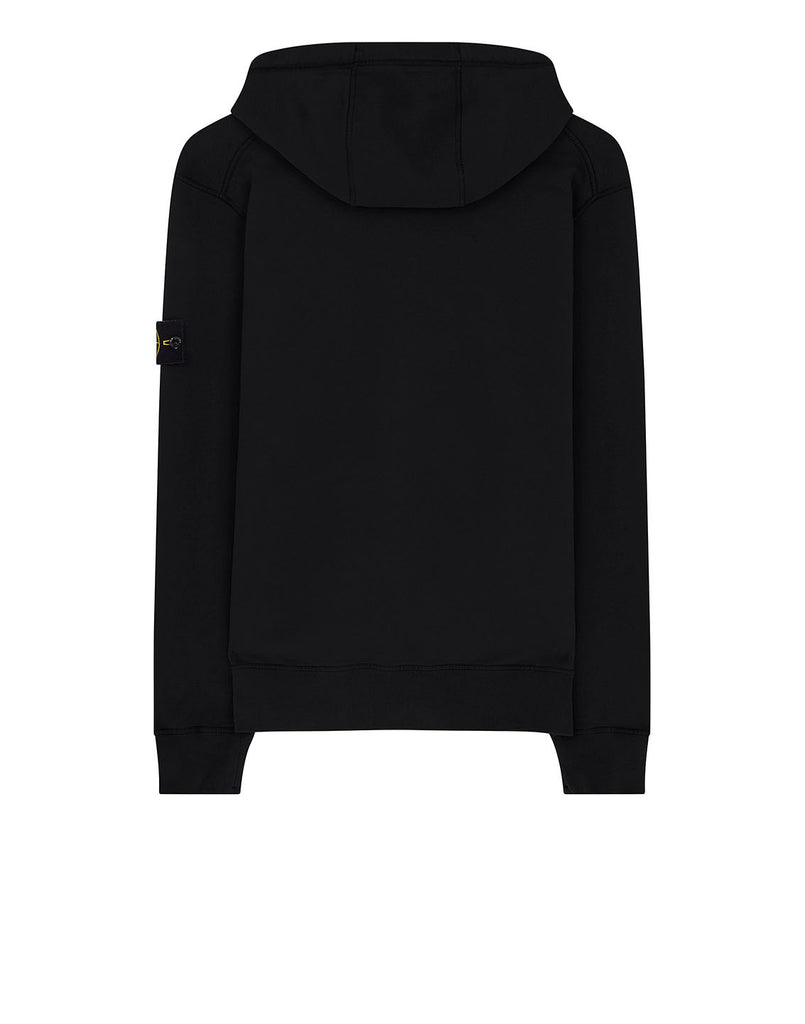 64220 Hooded full zip sweatshirt in Black