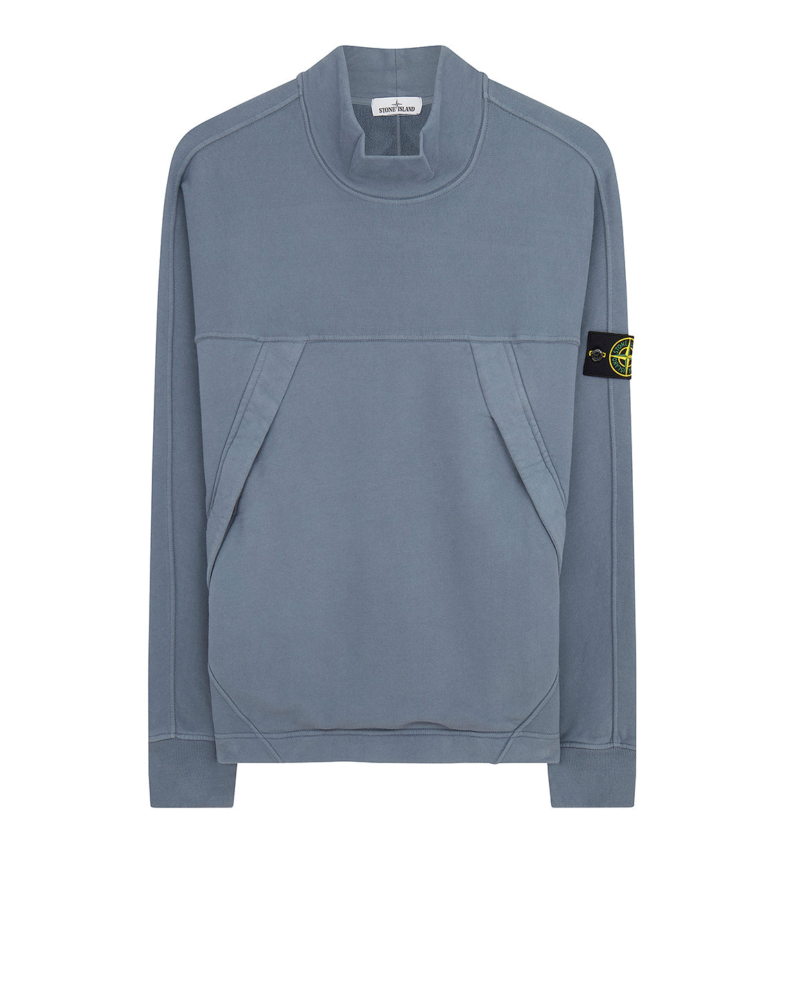 61820 Mock Neck Sweatshirt in Dark Blue