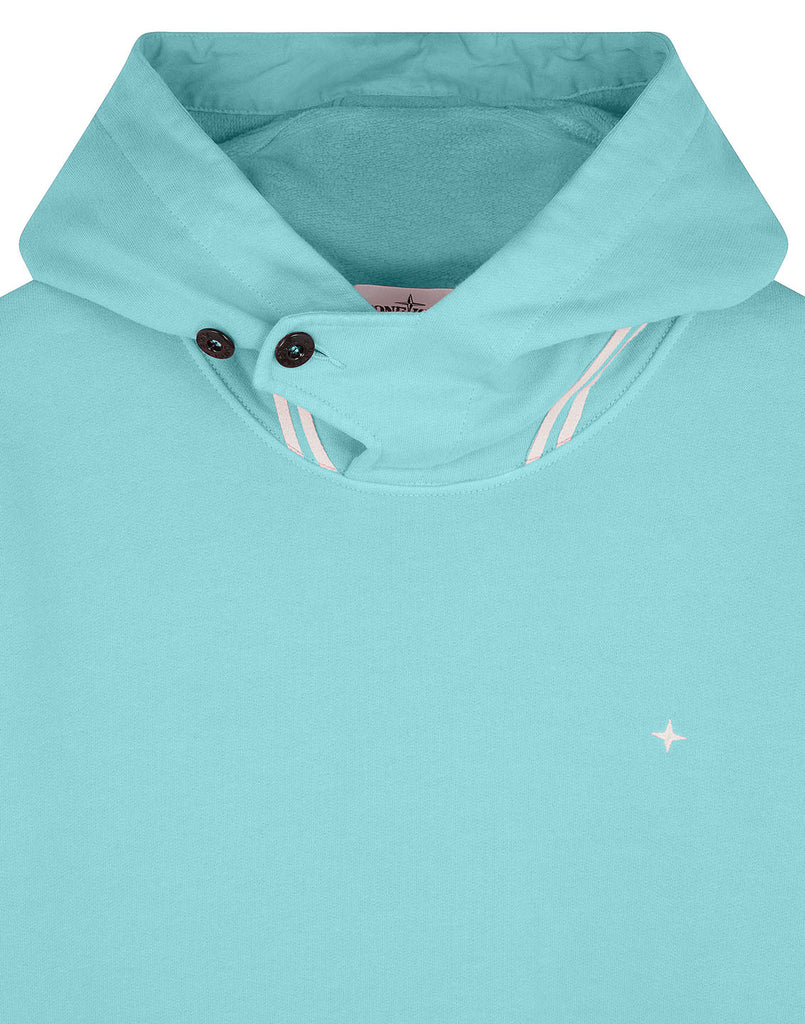 60120 Hooded Sweatshirt in Aqua