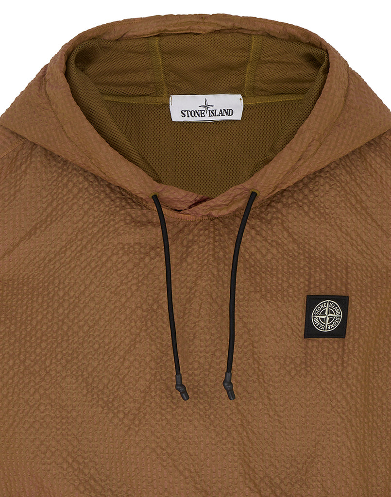 64034 POLY-COLOUR FRAME-TC: Hooded sweatshirt in Tobacco