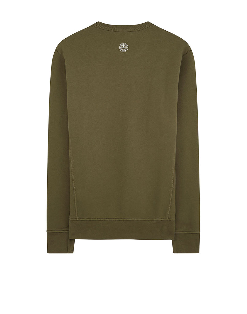62790 'GRAPHIC ELEVEN' Crewneck Sweatshirt in Olive