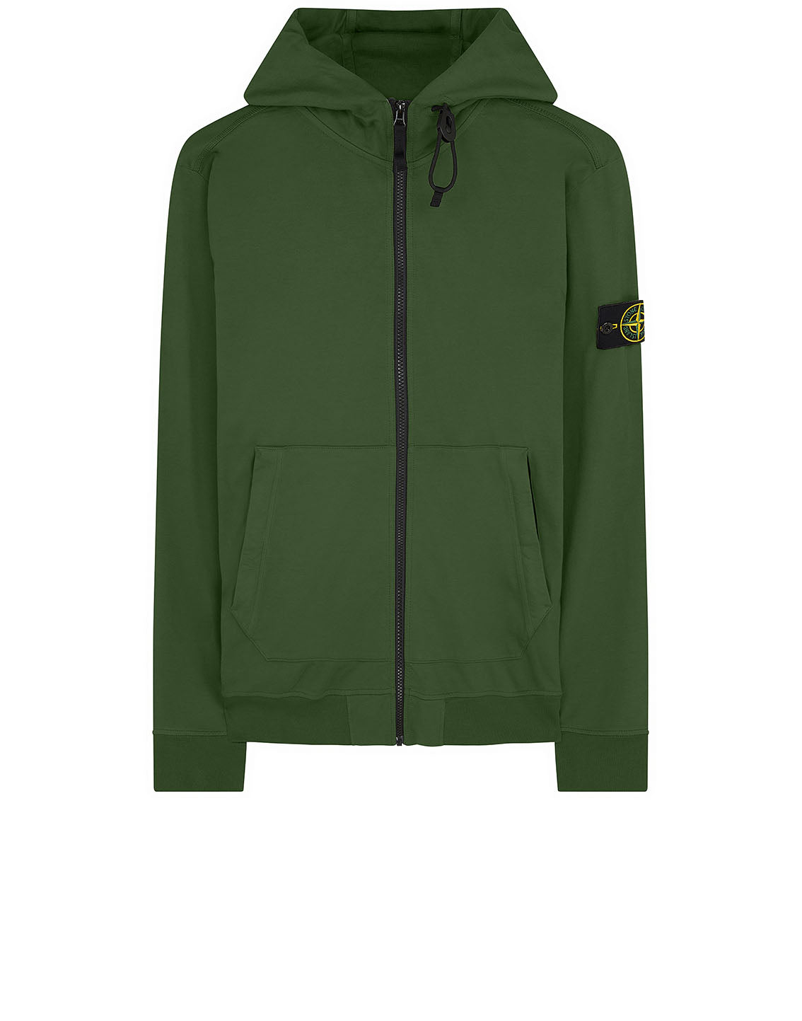 61150 Hooded full zip sweatshirt in Dark Forest