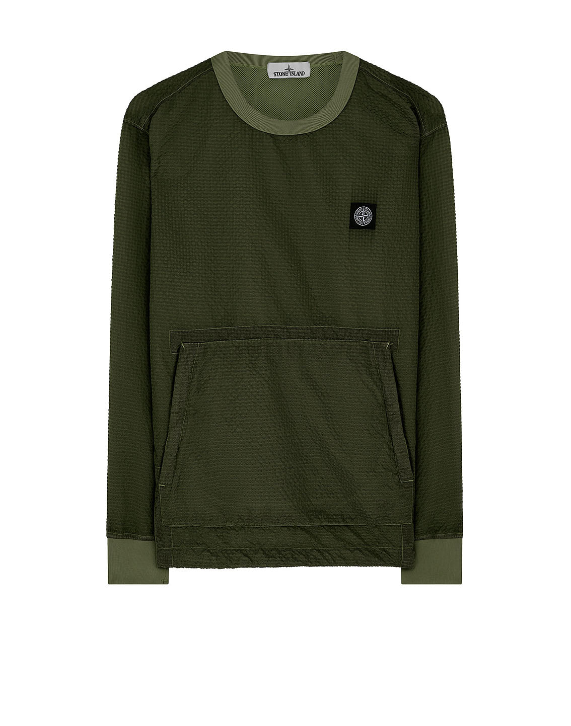 62434 POLY-COLOUR FRAME-TC: Crewneck sweatshirt in Dark Forest
