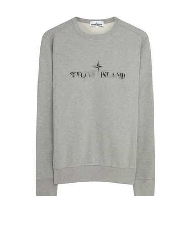 62790 'GRAPHIC ELEVEN' Crewneck Sweatshirt in Dust Grey