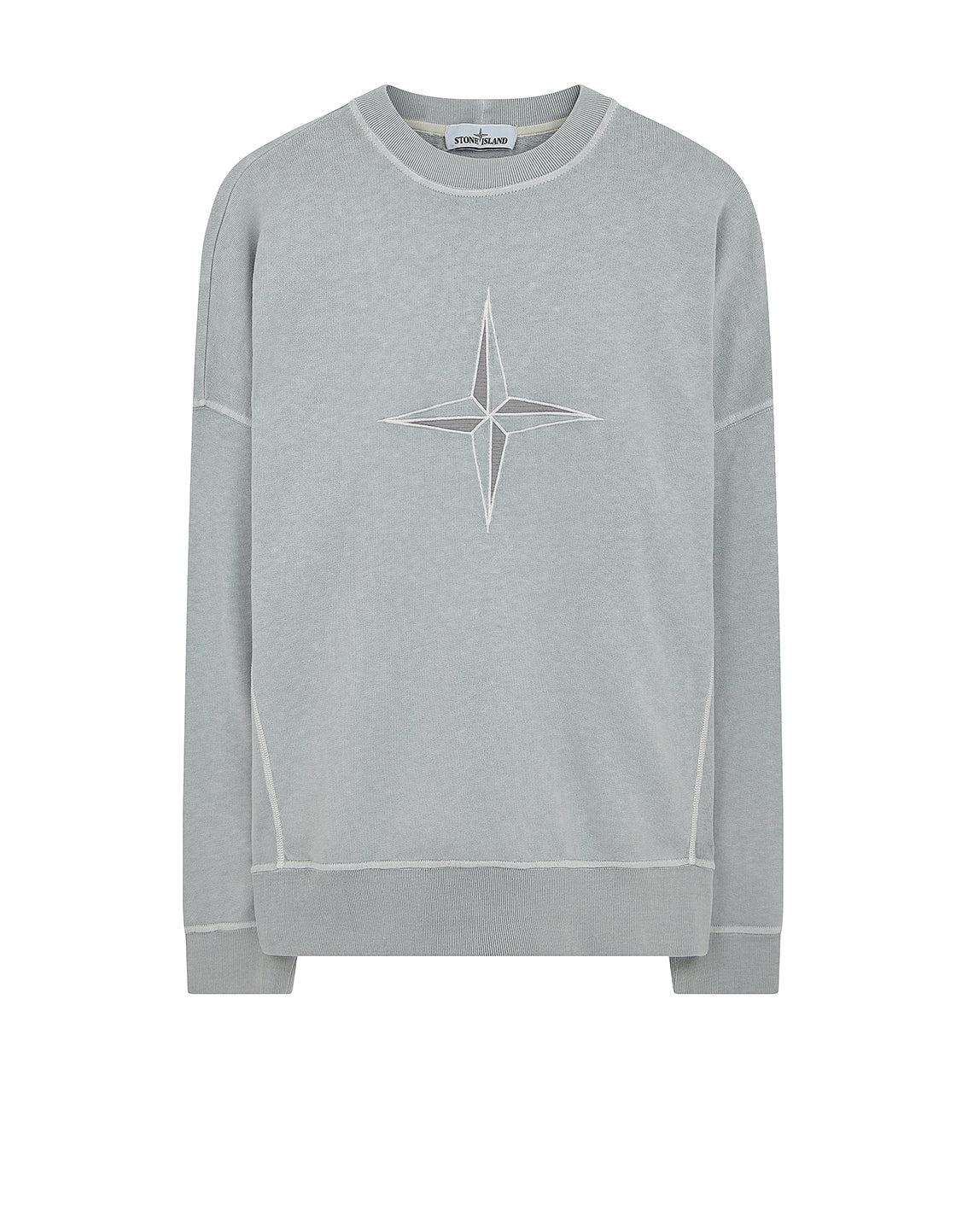61261 'OLD' DYE TREATMENT Sweatshirt in Pearl Grey