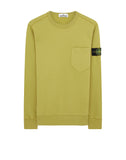 63820 Chest Pocket Crewneck Sweatshirt in Mustard