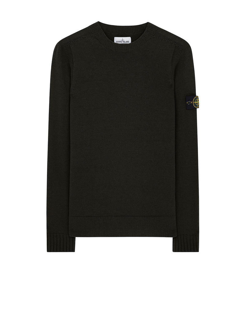 505A3 Lambswool Crewneck Knit in Dark Forest