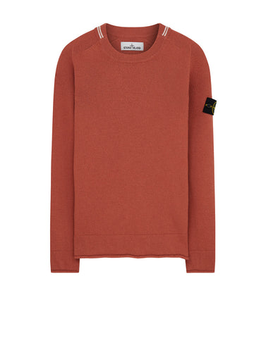 524C4 Crewneck Wool Knit in Rust