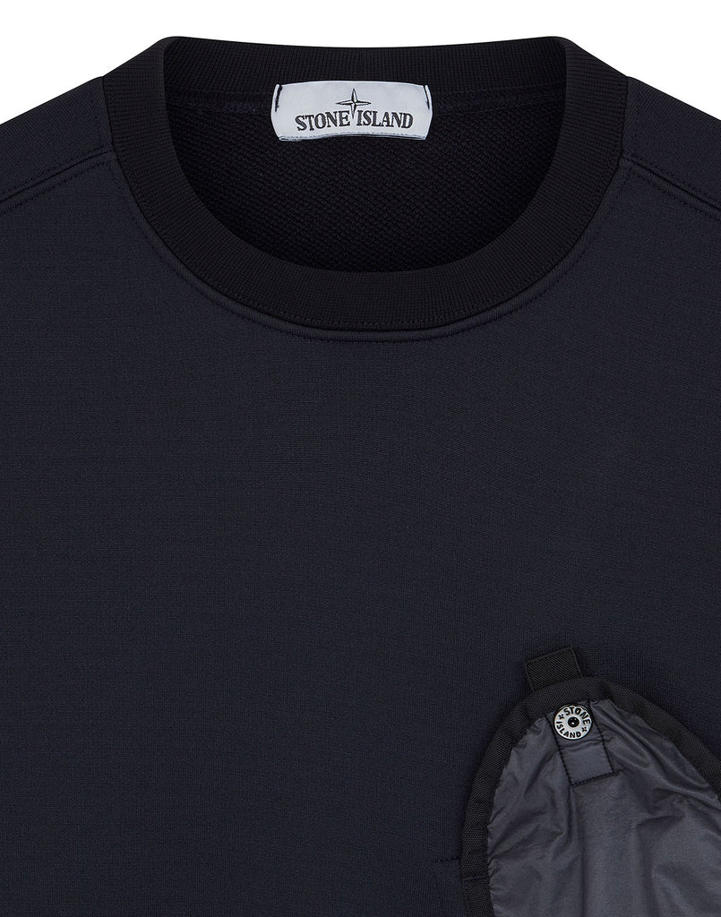 64046 Lamy Flock Pocket Sweatshirt in Navy Blue