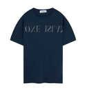 21856 'OLD' DYE TREATMENT T-Shirts in Blue Marine