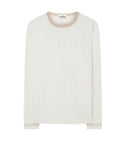 24436 JERSEY PLACCATO T-Shirt in Beige