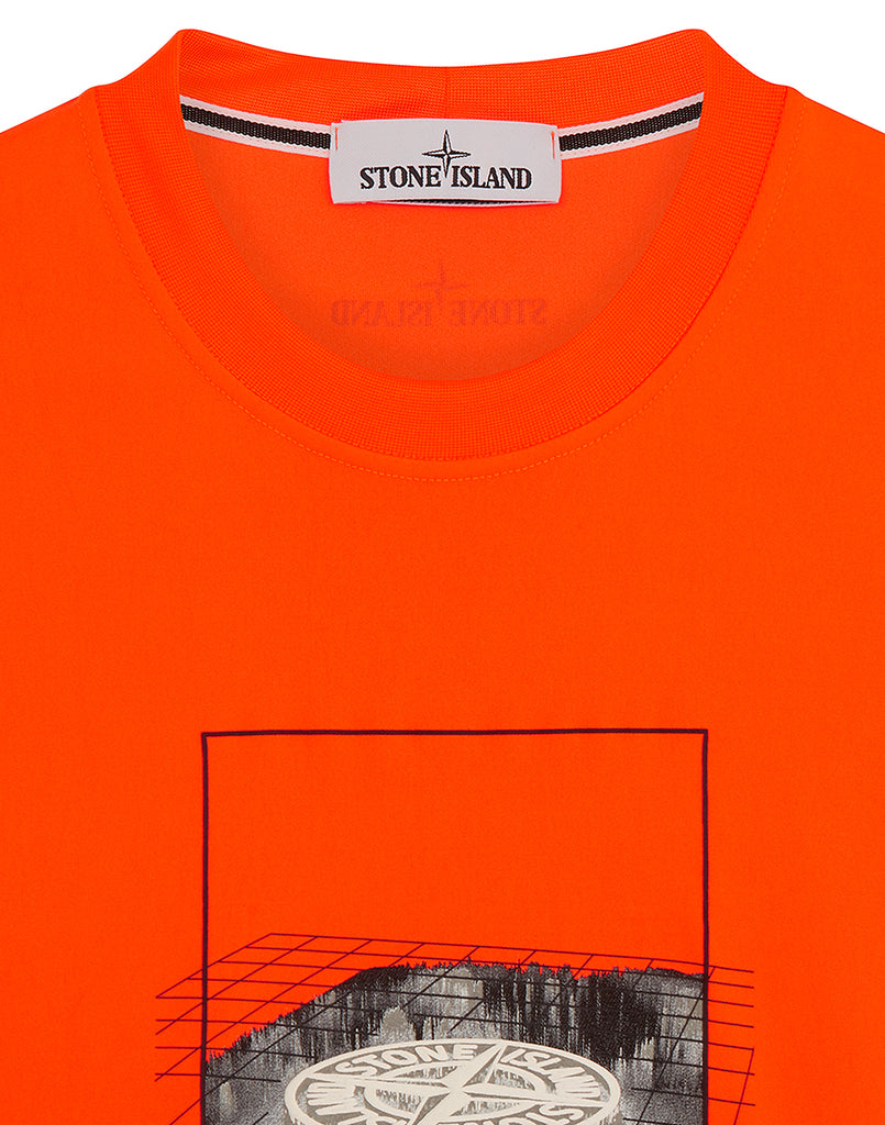 2NS80 'GRAPHIC THREE' FLUO T SHIRT in Orange
