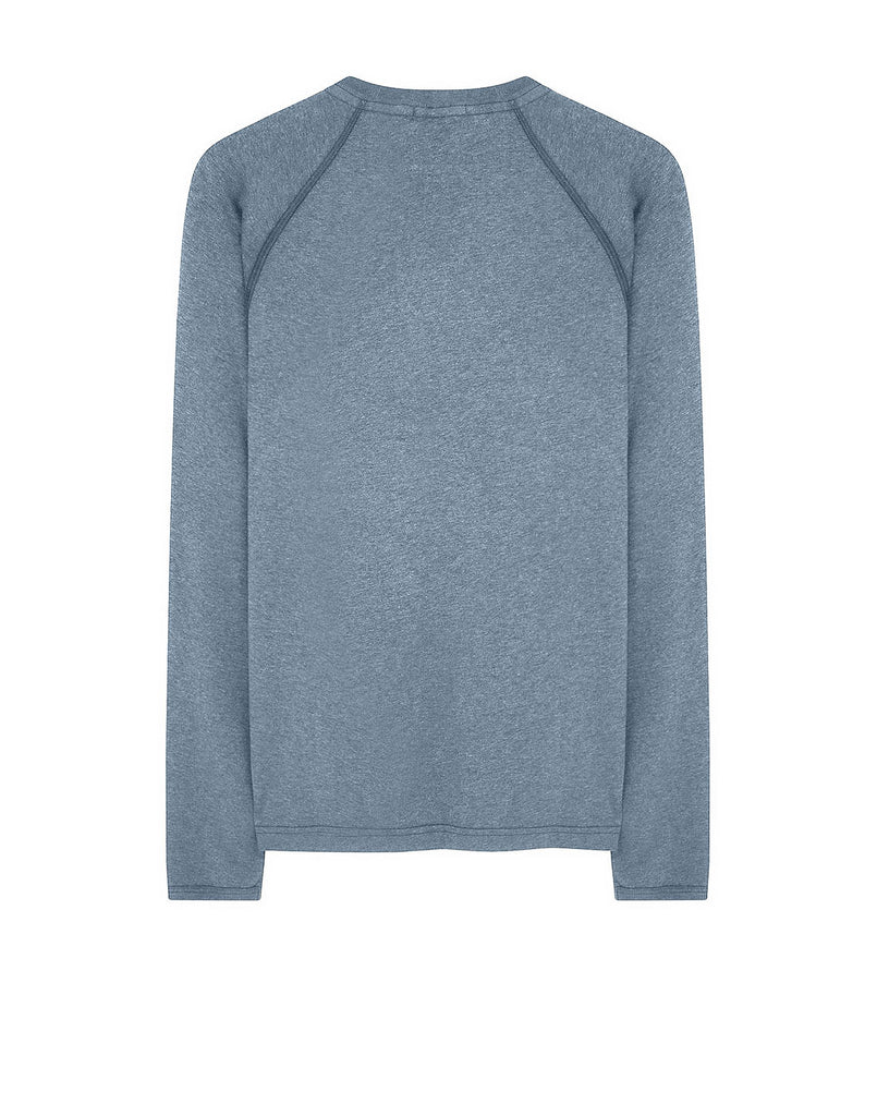20393 DUST COLOUR: Long-sleeve T-Shirt in Periwinkle