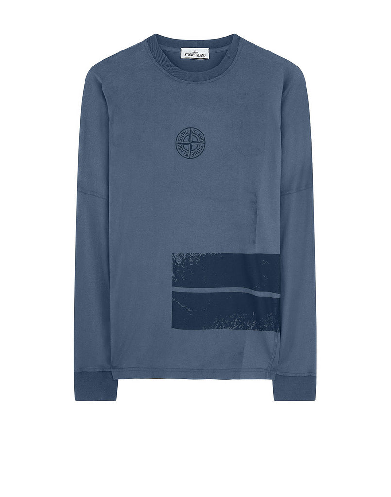 20792 DUST ONE: Long-sleeve T-Shirt in Marine Blue