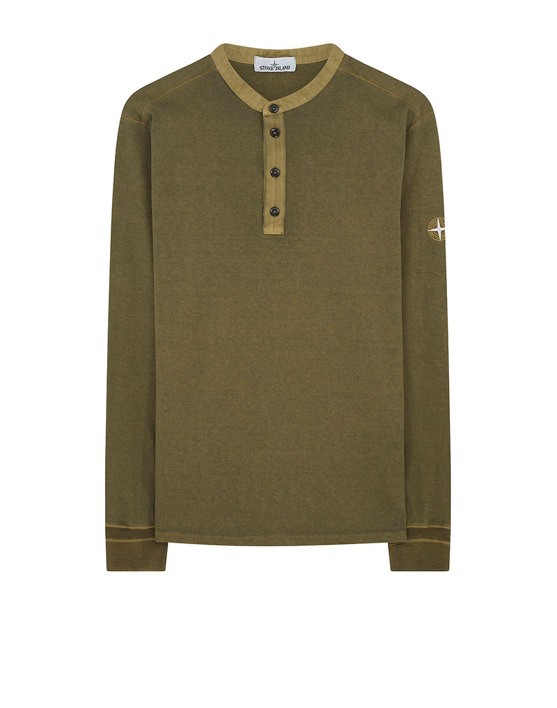 20442 'FISSATO' DYE TREATMENT T-Shirt in Olive