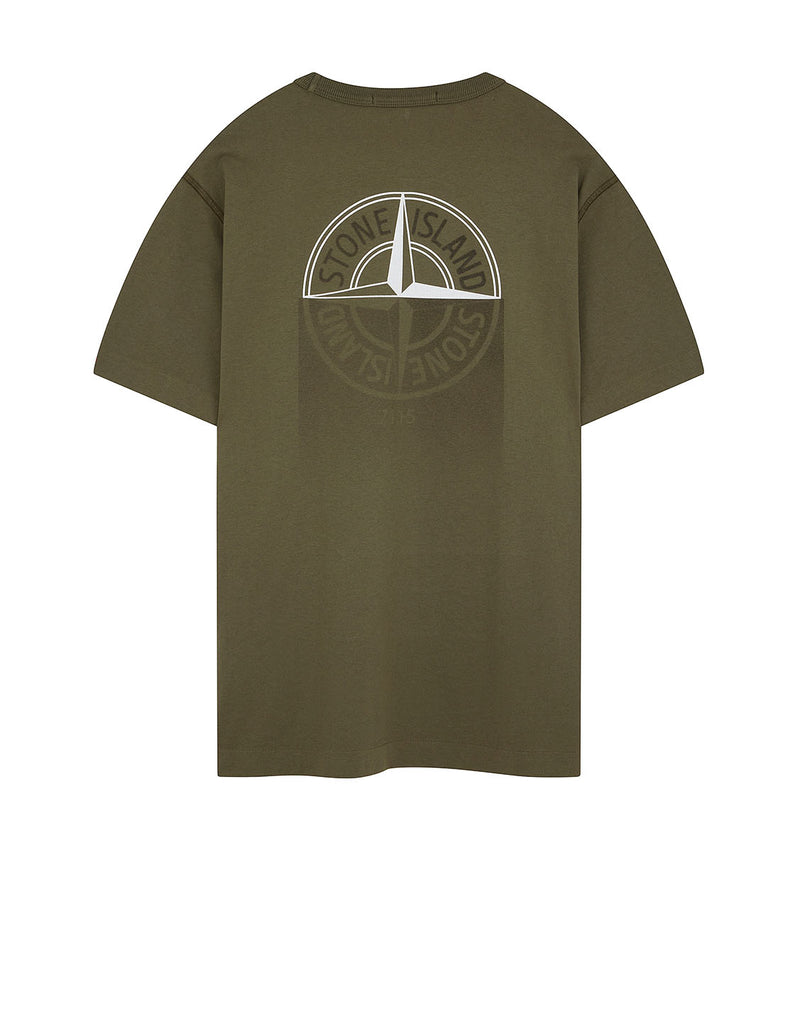 23380 'GRAPHIC ONE' PRINT T-Shirt in Olive