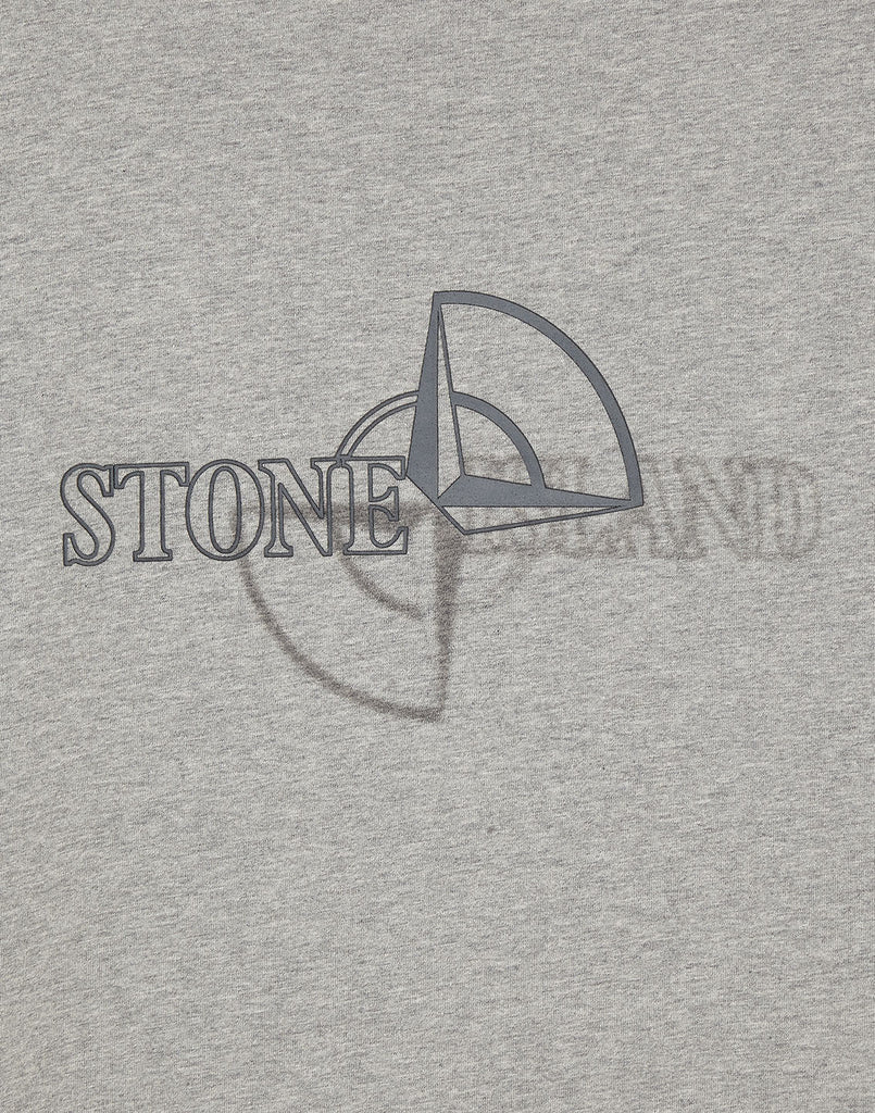 23381 'GRAPHIC TWO' PRINT T-Shirt in Dust Grey