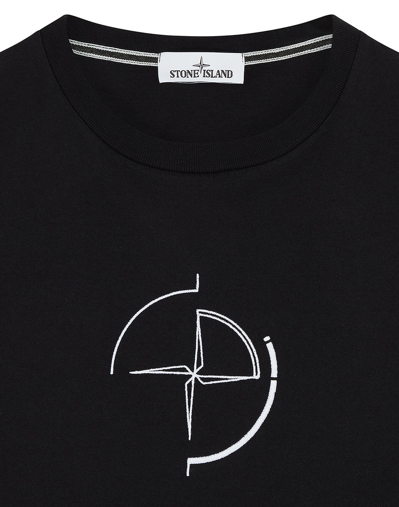 2NS89 'DATA SCAN' T-Shirt in Black