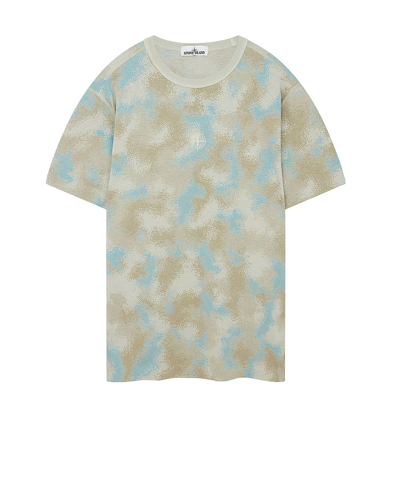 233E8 CAMO DÉVORÉ T-Shirt in Dove Grey