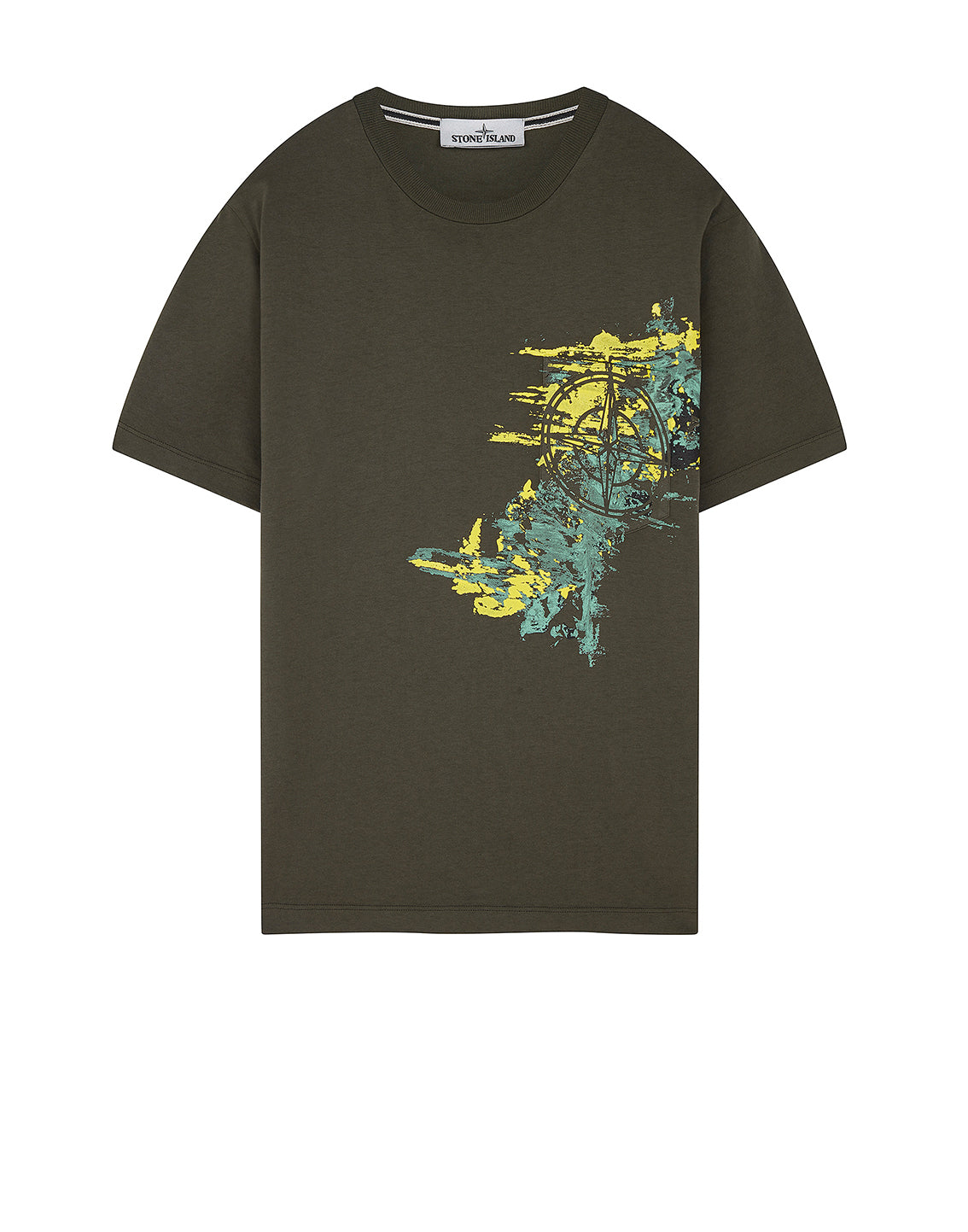 24682 PAINT STROKE 3: Short-sleeve T-Shirt in Dark Forest