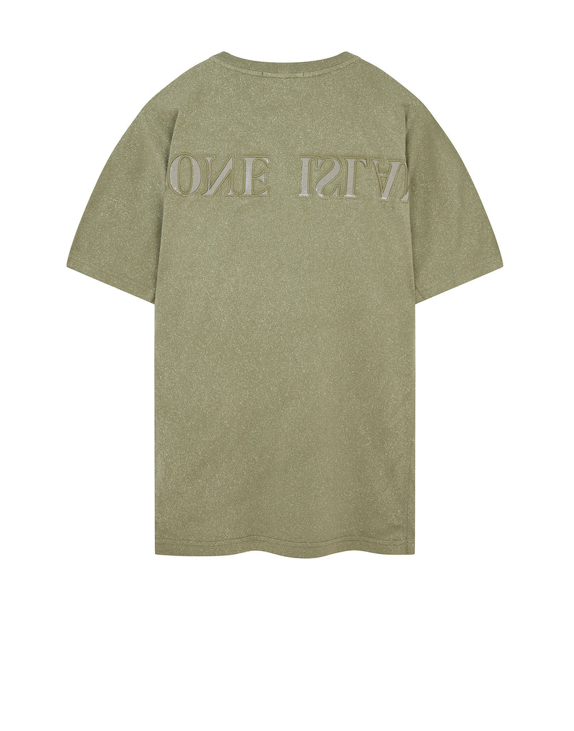 24555 FLECK TREATMENT T-Shirt in Olive