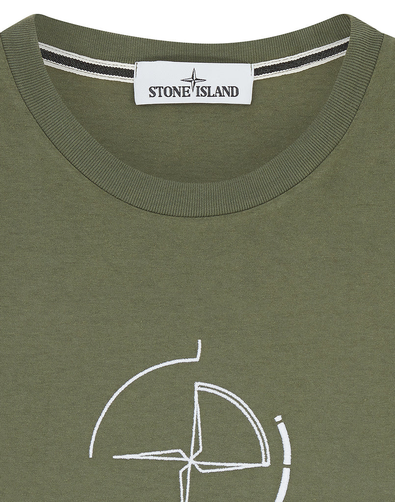 2NS89 'DATA SCAN' T-Shirt in Olive