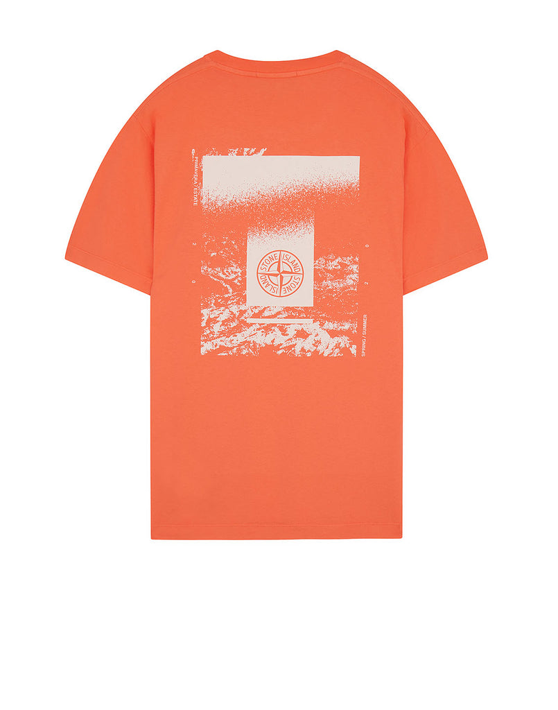 2NS84 'DRONE TWO' T-Shirt in Orange Red
