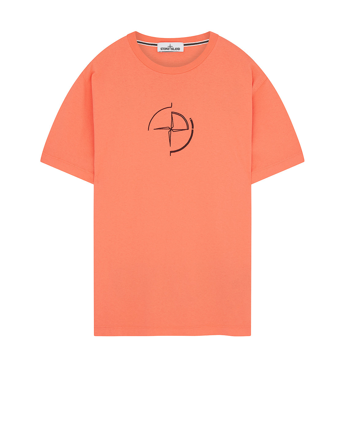 2NS89 'DATA SCAN' T-Shirt in Orange Red
