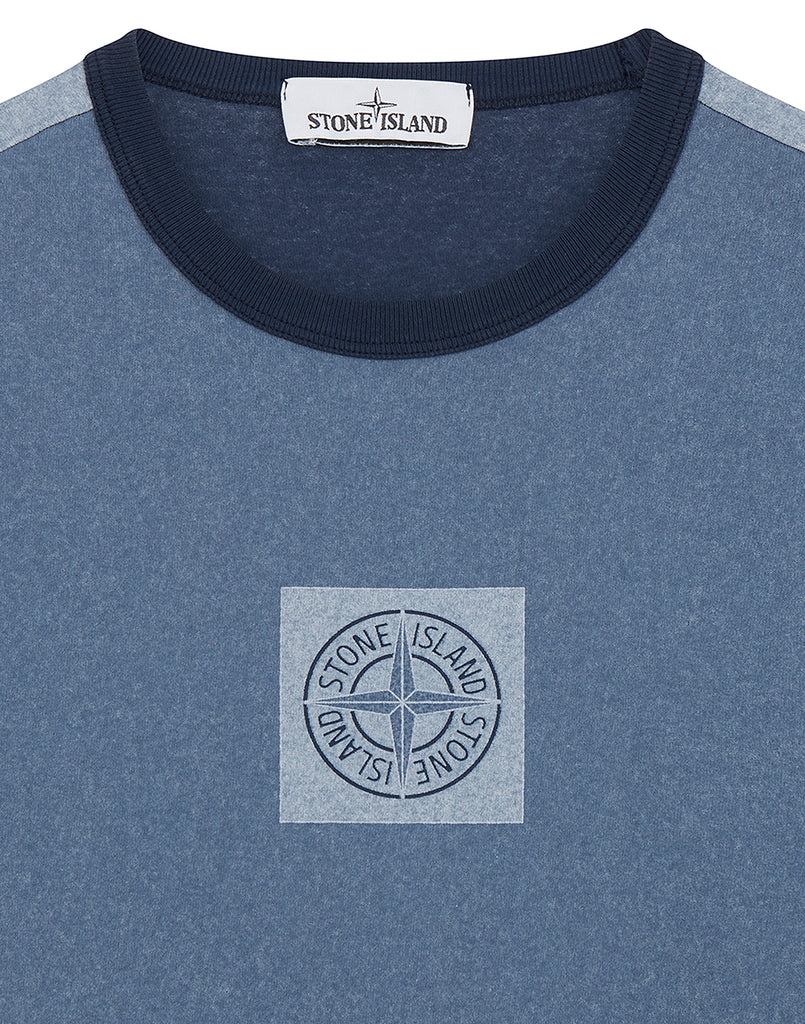 24436 JERSEY PLACCATO in Blue Marine