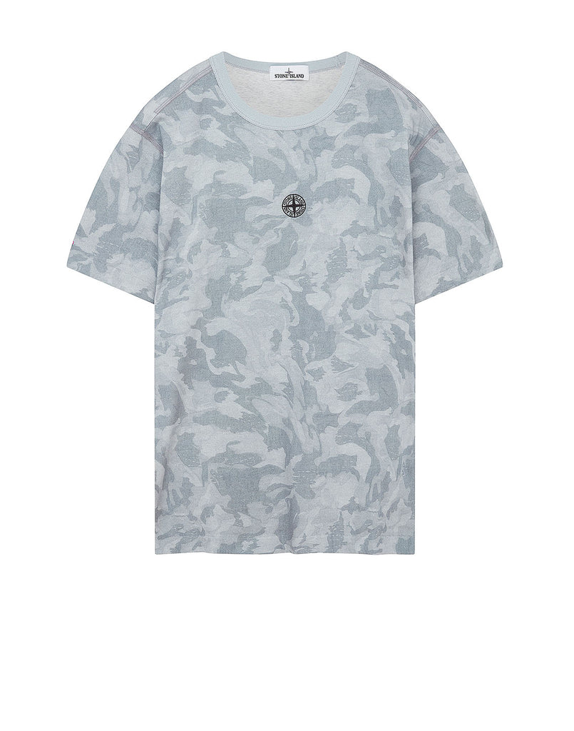 233E7 BIG LOOM CAMO T-Shirt in Sky Blue