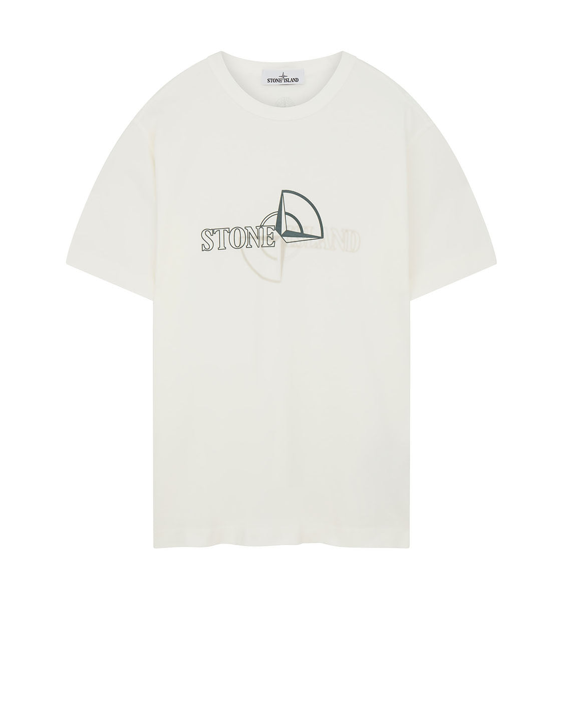 23381 'GRAPHIC TWO' PRINT T-Shirt in Natural