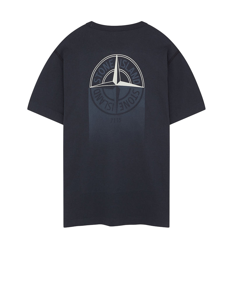 23380 'GRAPHIC ONE' PRINT T-Shirt in Navy Blue