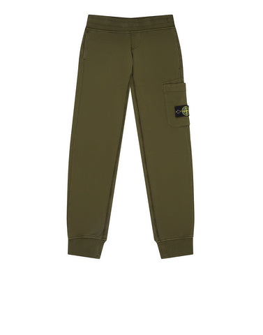 60640 Fleece Jogging Trousers in Military Green