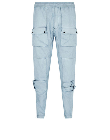 31163 TELA PLACCATA Trousers in Blue Marine
