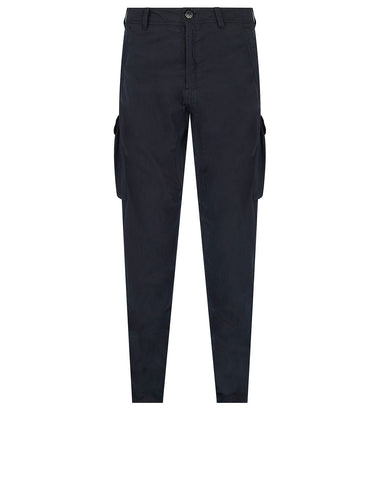 314F2 GHOST PIECE_COTTON NYLON TELA Trousers in Navy Blue