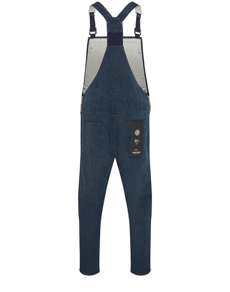 F01J1 PANAMA PLACCATO RE-T Overalls in Blue Marine