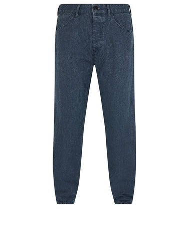 J02J1 PANAMA PLACCATO RE-T Trousers in Blue Marine
