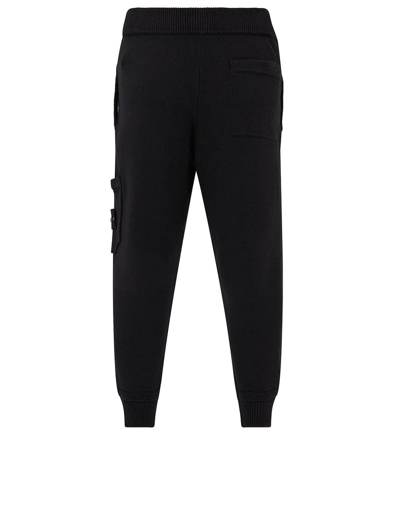 558A7 Knit Cargo Trousers in Black