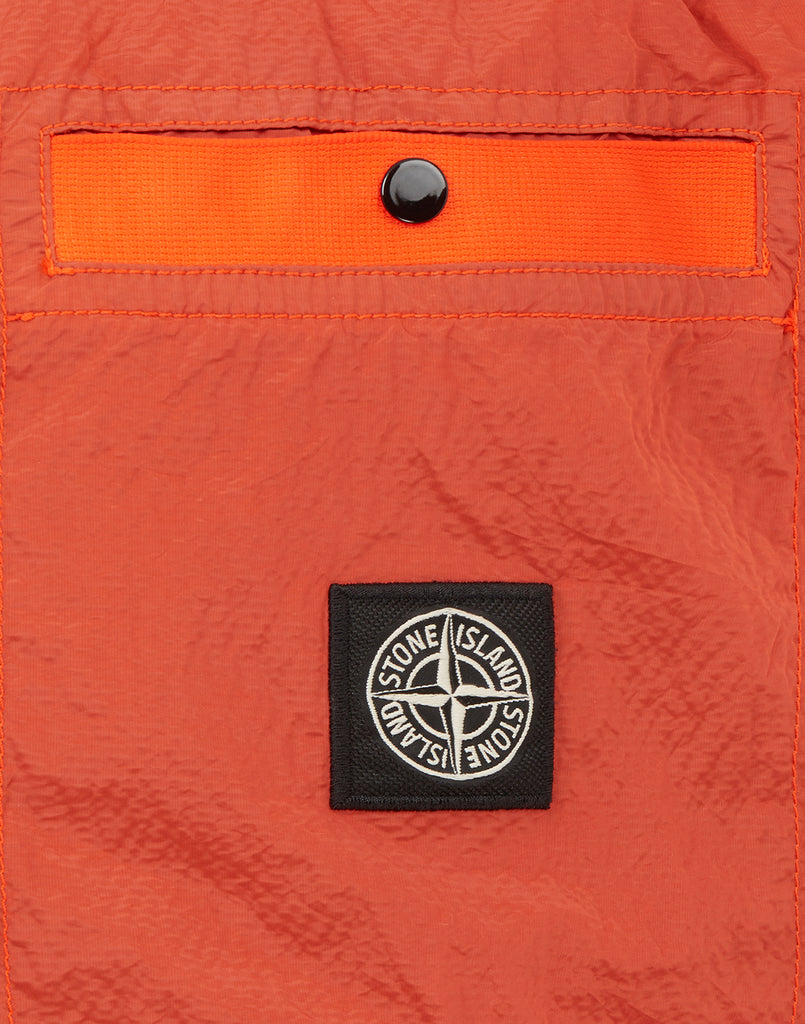 G0229 SI PA/PL SEERSUCKER-TC Waistcoat in Orange Red