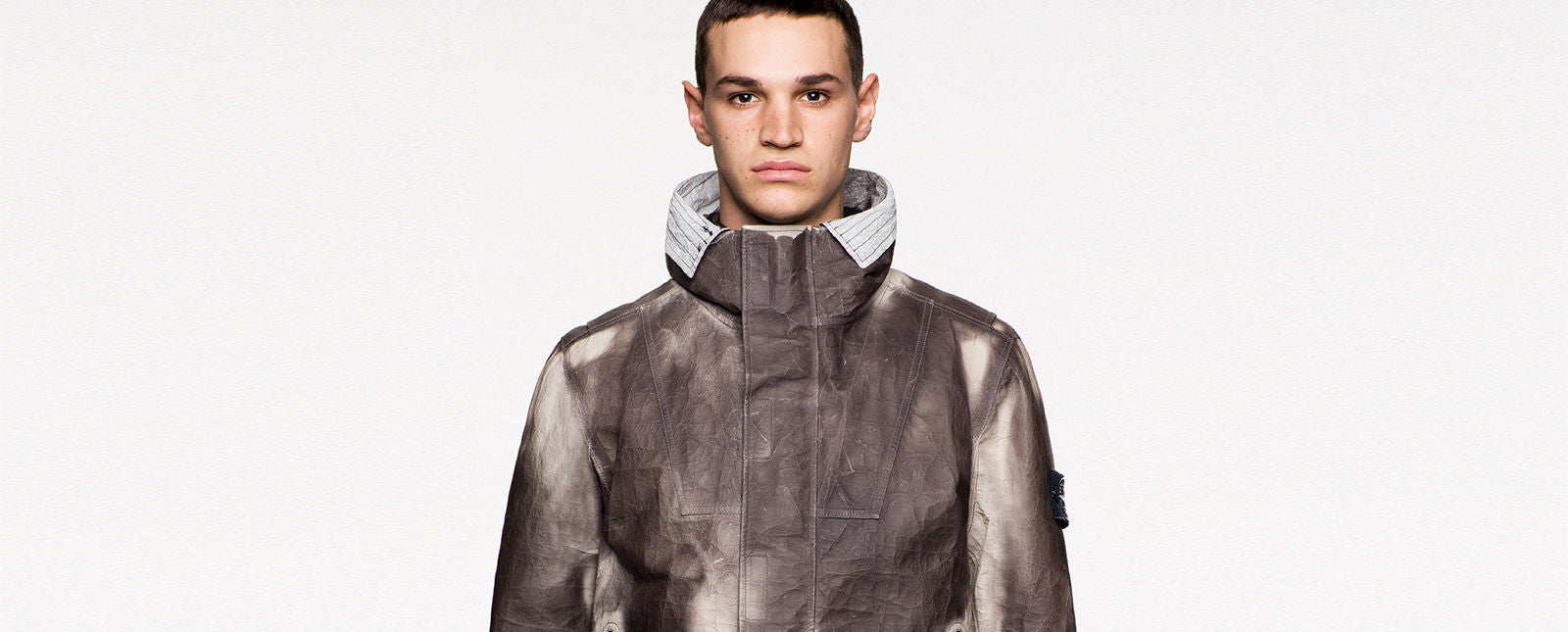 ICE JACKET IN DYNEEMA® BONDED LEATHER stone island
