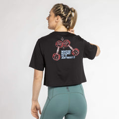 "WIT Fitness T-shirts WIT ""WHOSE ROUND IS IT"" Crop Tee 004"