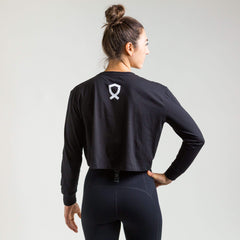 WIT Fitness Long Sleeve T-shirts Battle Cancer L/S Crop Tee