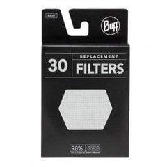 Buff Facemasks One Size / Grey/White / Unisex Buff Filter Pack- 30 Units