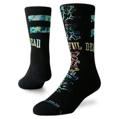Stance Socks UK 6-8.5 / Black / Mens Stance Grateful Bears Crew