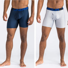 Under Armour Underwear Under Armour Tech 6in 2 Pack Boxershorts