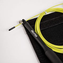Velites Skipping Ropes One Size / Black Handles / Unisex Velites Vropes Fire 2.0 Speed Rope