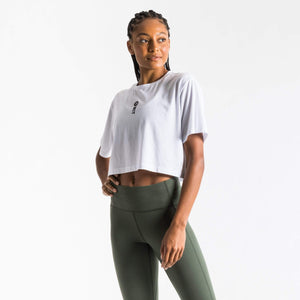 WIT Fitness T-shirts WIT Vertical Logo Crop Tee