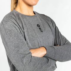 WIT Fitness Long Sleeve T-Shirts WIT Vertical Logo L/S Crop Tee