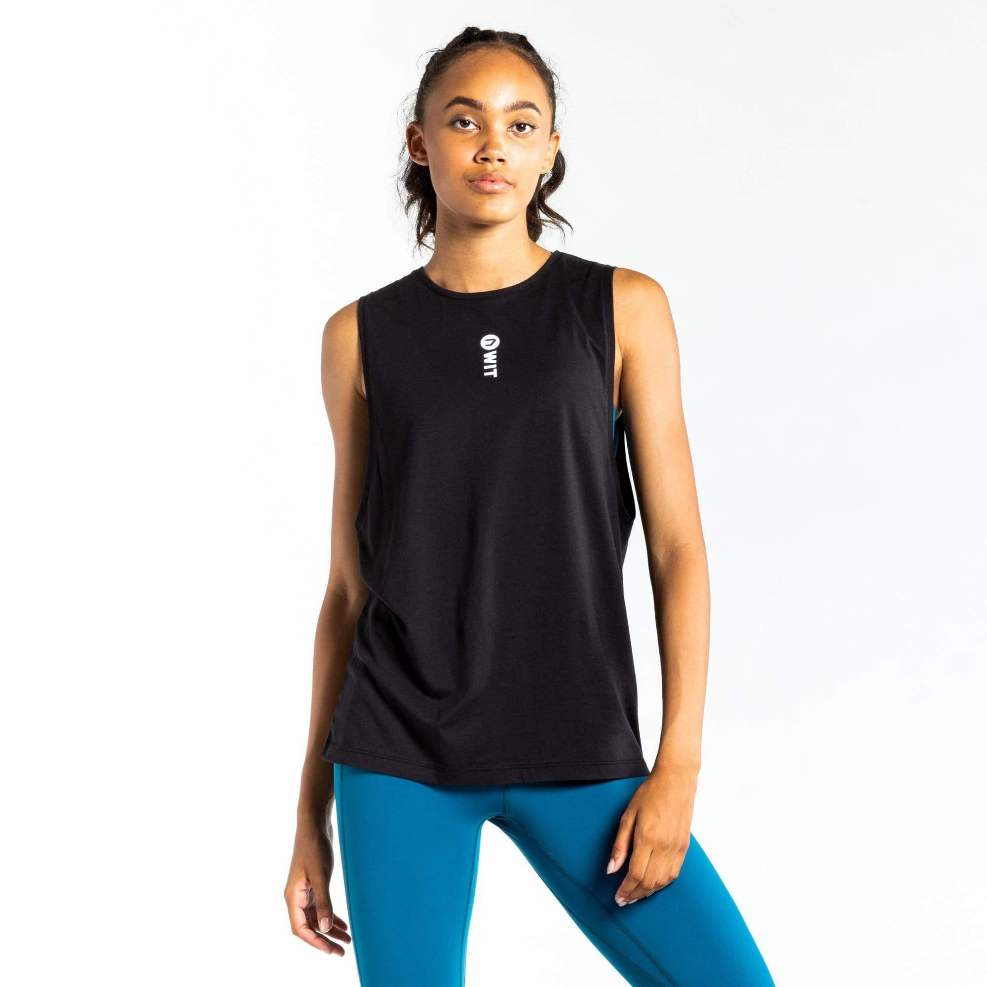 WIT Fitness Tanks WIT Vertical Logo Muscle Tank