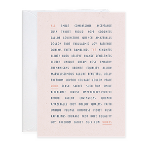 Good Words Greeting Card